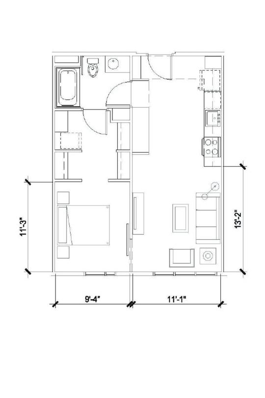 One Bedroom 595 Sqft -