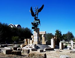 Jacob's Dream statue and artwork on the campus of Abilene Christian University