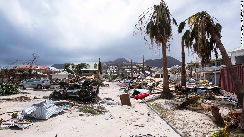 Damage from Hurricane Irma on the island of St. Marten. Source: CNN.