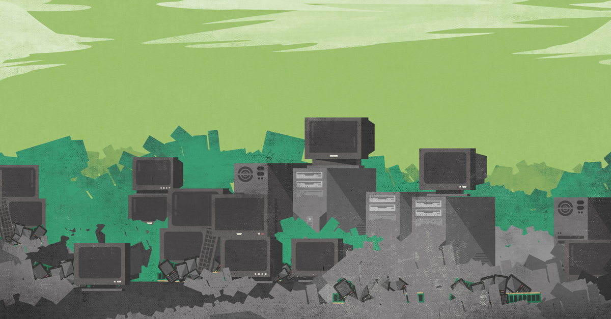 E-Waste on The Rise; infographic by Custom Made.