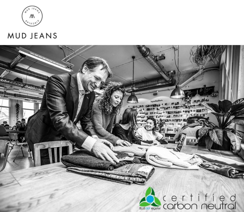 Bert van Son and Danique Gunning of MUD Jeans