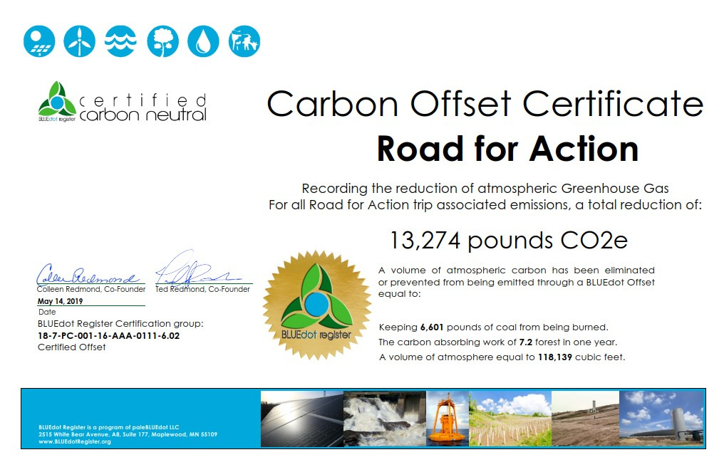 Road For Action Offset Certificate