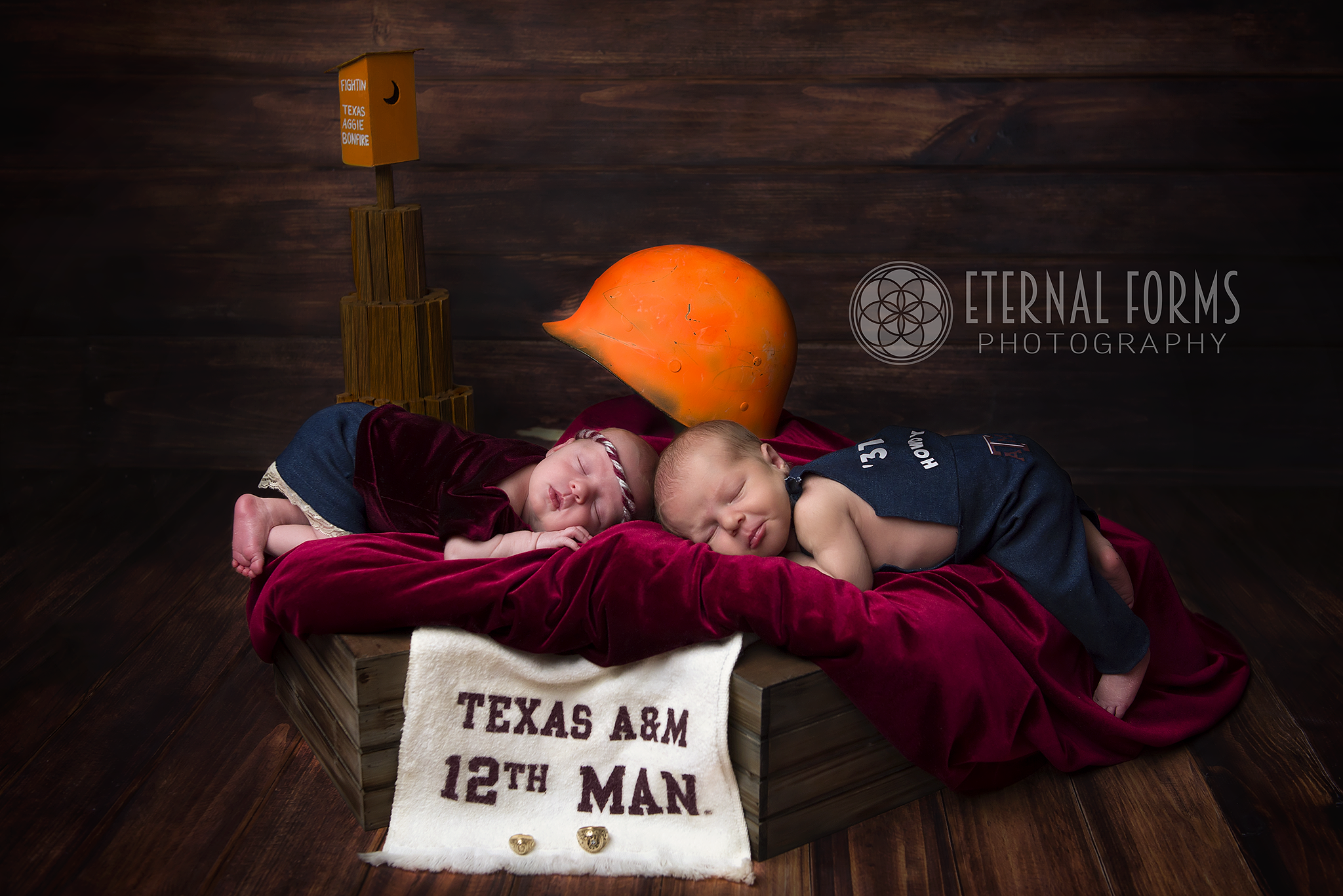 round rock newborn twin photographer 11