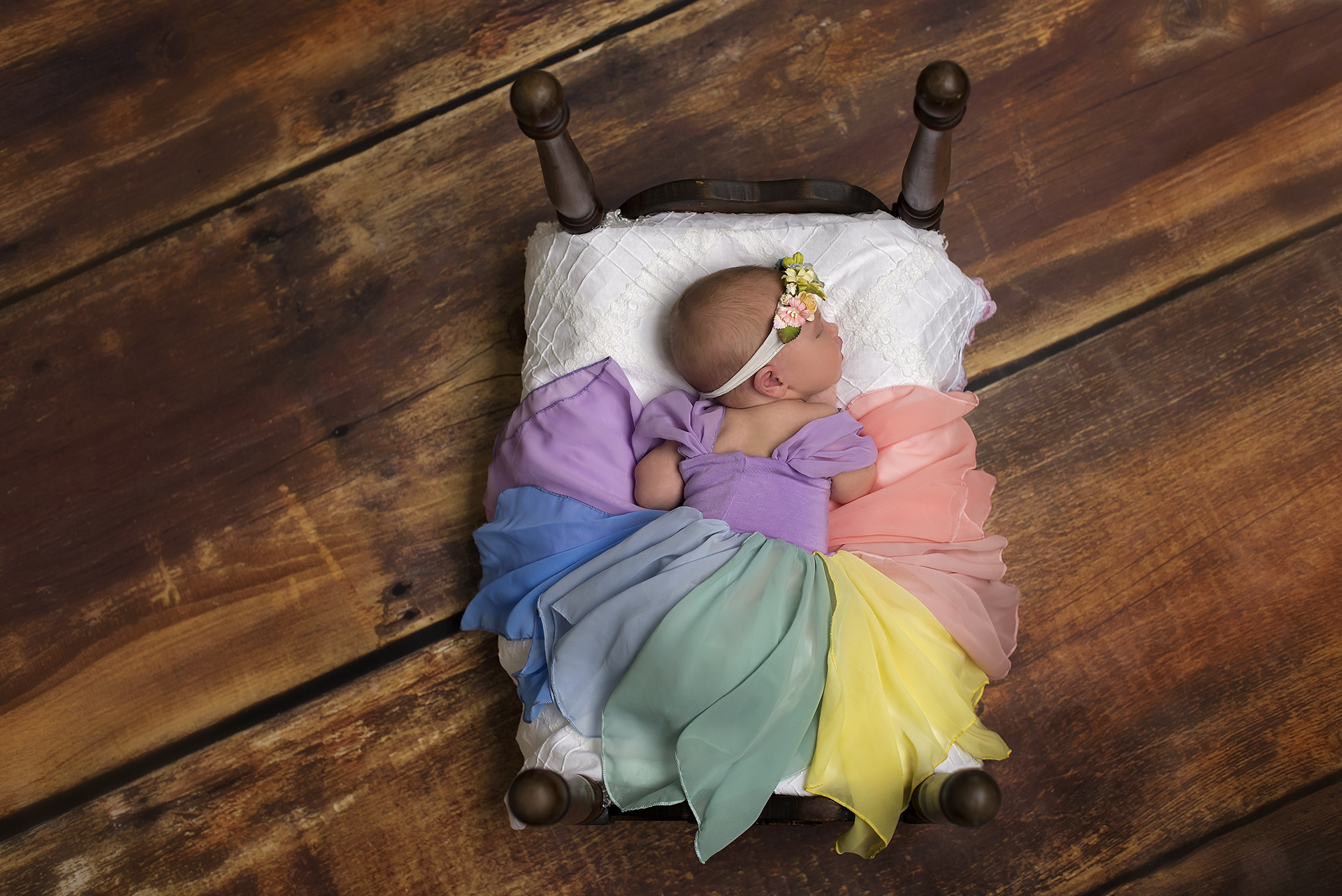 rainbow princess gown