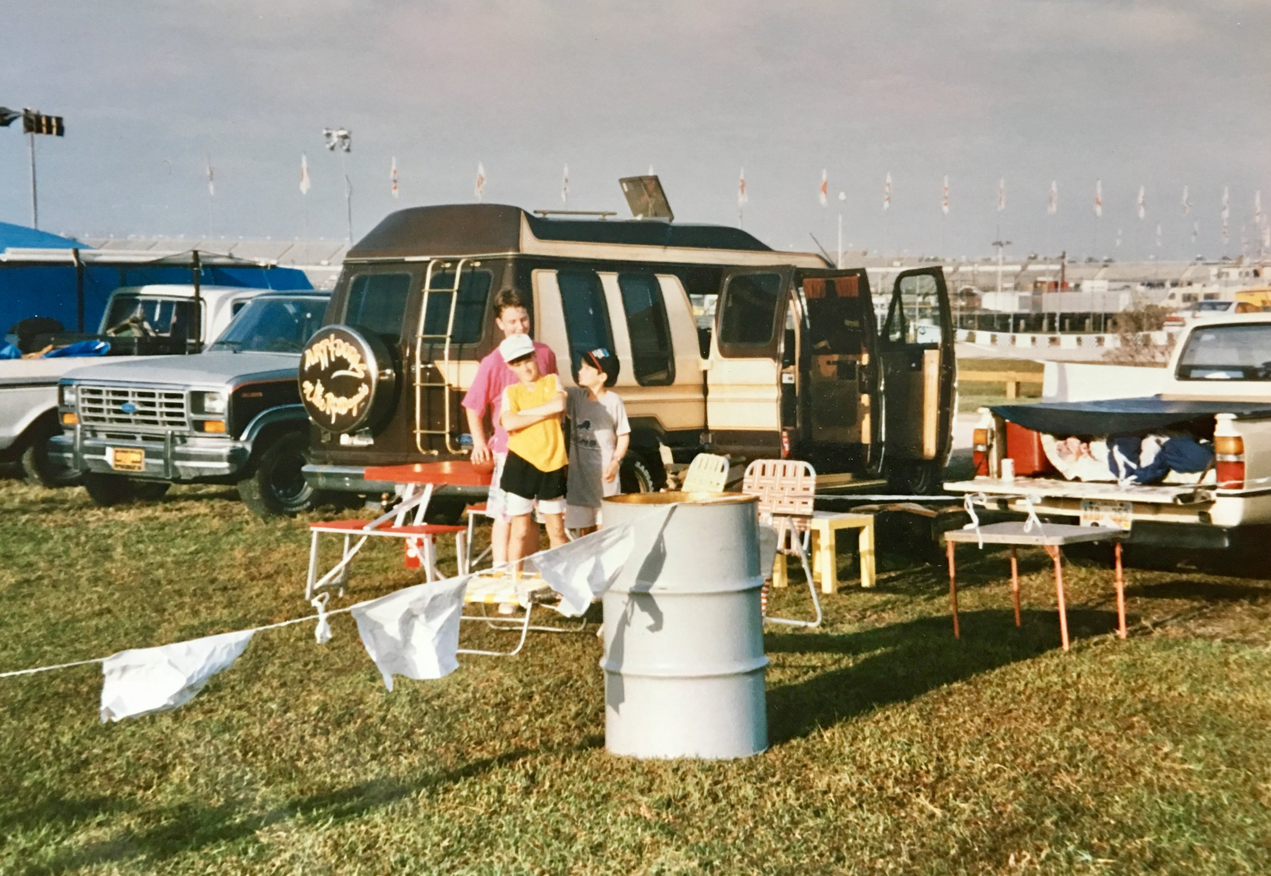 Me, Chris, and Eric at the Rolex 24 at Daytona around 1989