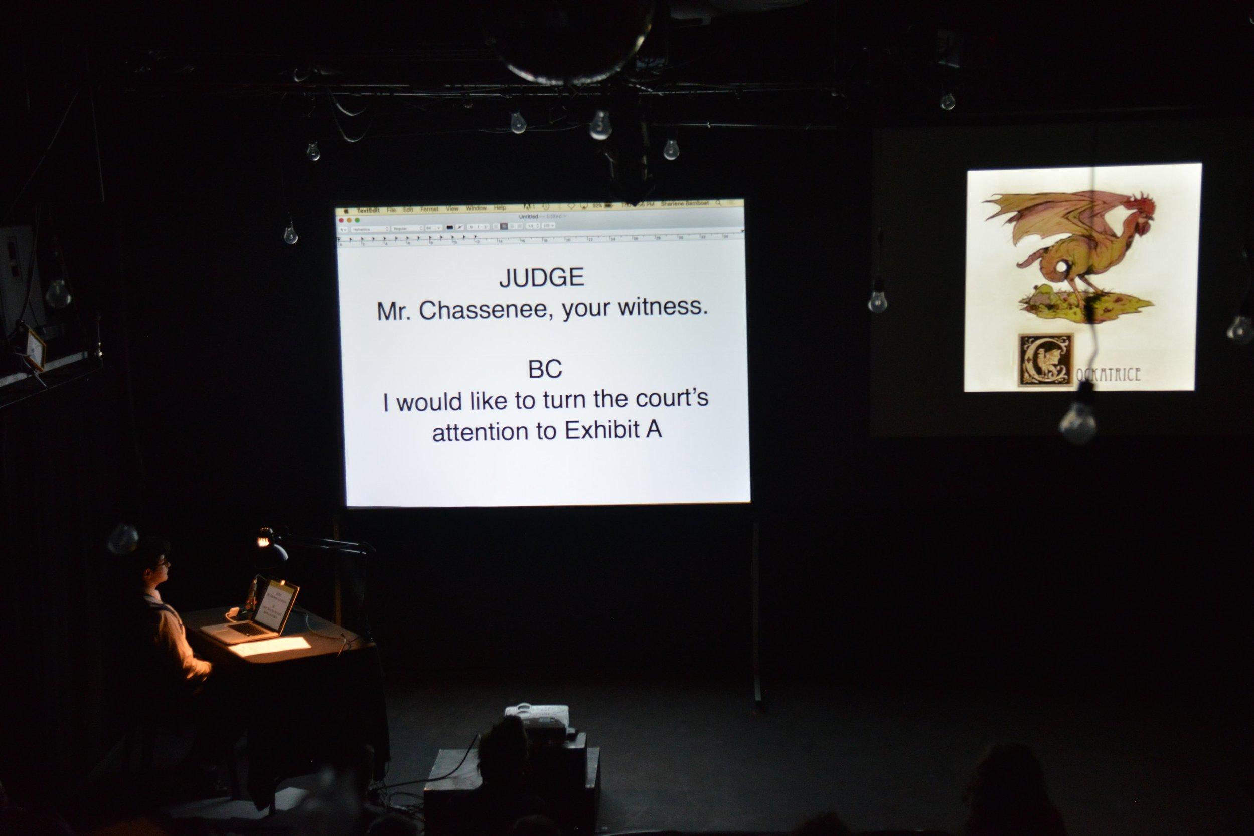 Documentation of  Rhubarb Festival  performance by Greg Wong.