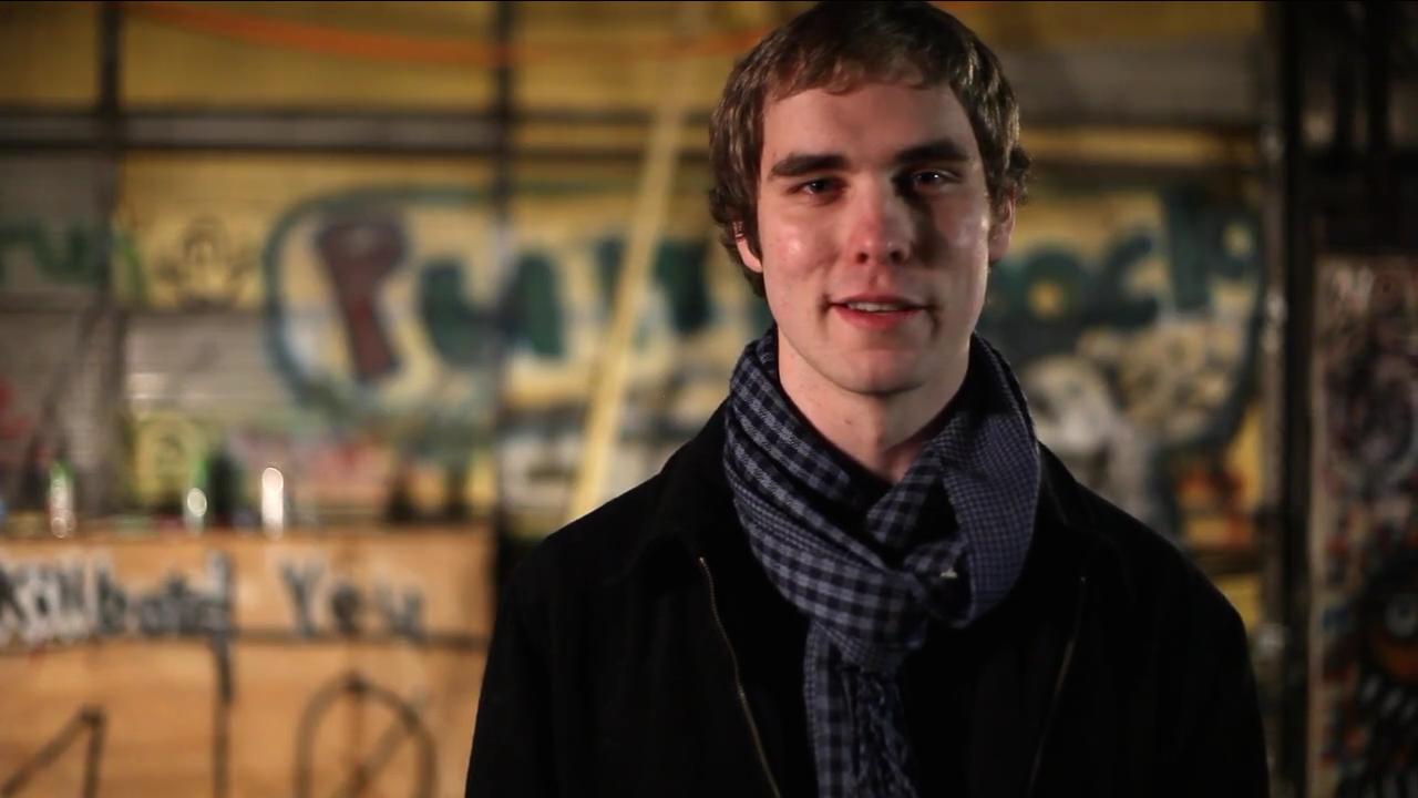 Lucas in my senior film,  Ecci's Story .