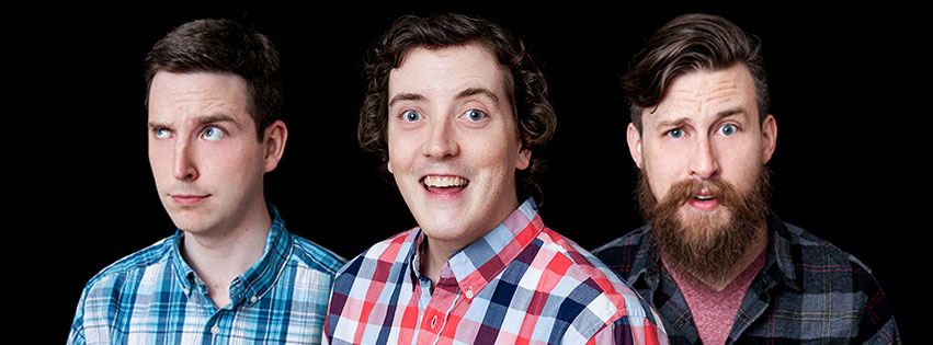 Your Sham-Hosts (from left to right): Marcus Mann, Andrew Neill, & Eric Carlson