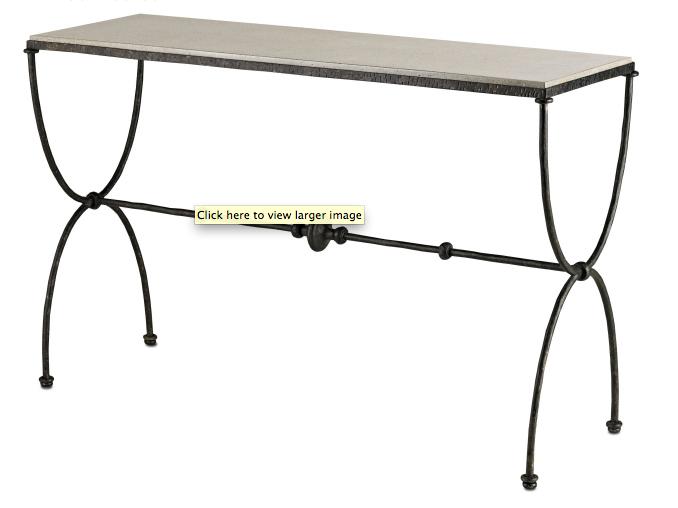Currey & Co. Agora Console Table