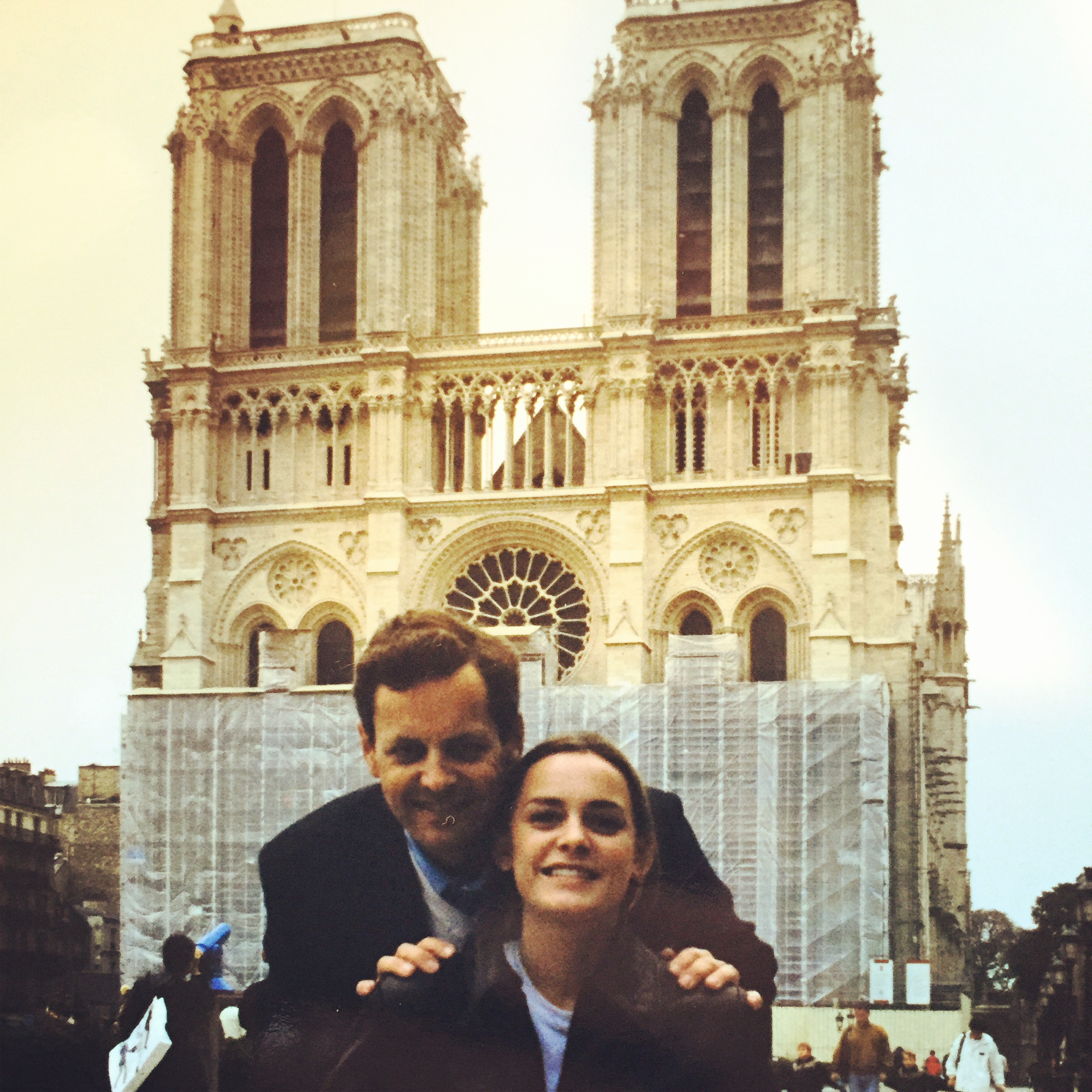 1998, Notre Dame, with Dad