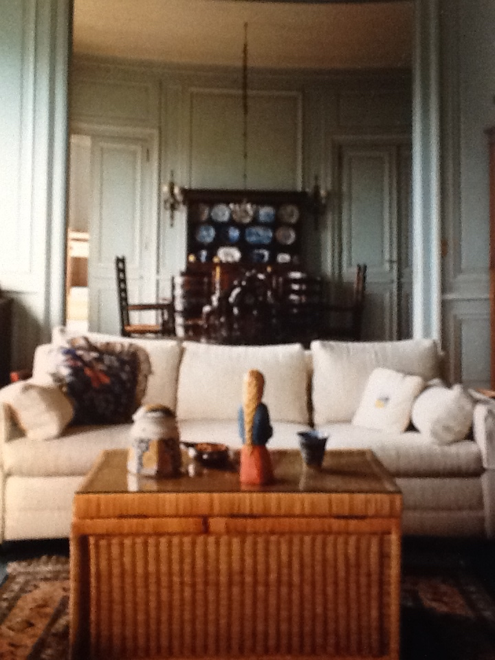 The living room space in their Parisian apartment, circa 1984