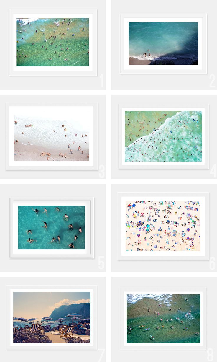 Beachy art prints are a must.