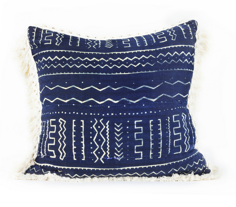 I created these out of vintage Moroccan and African Indigo textiles. I love the look of mixing them in different prints and patterns.