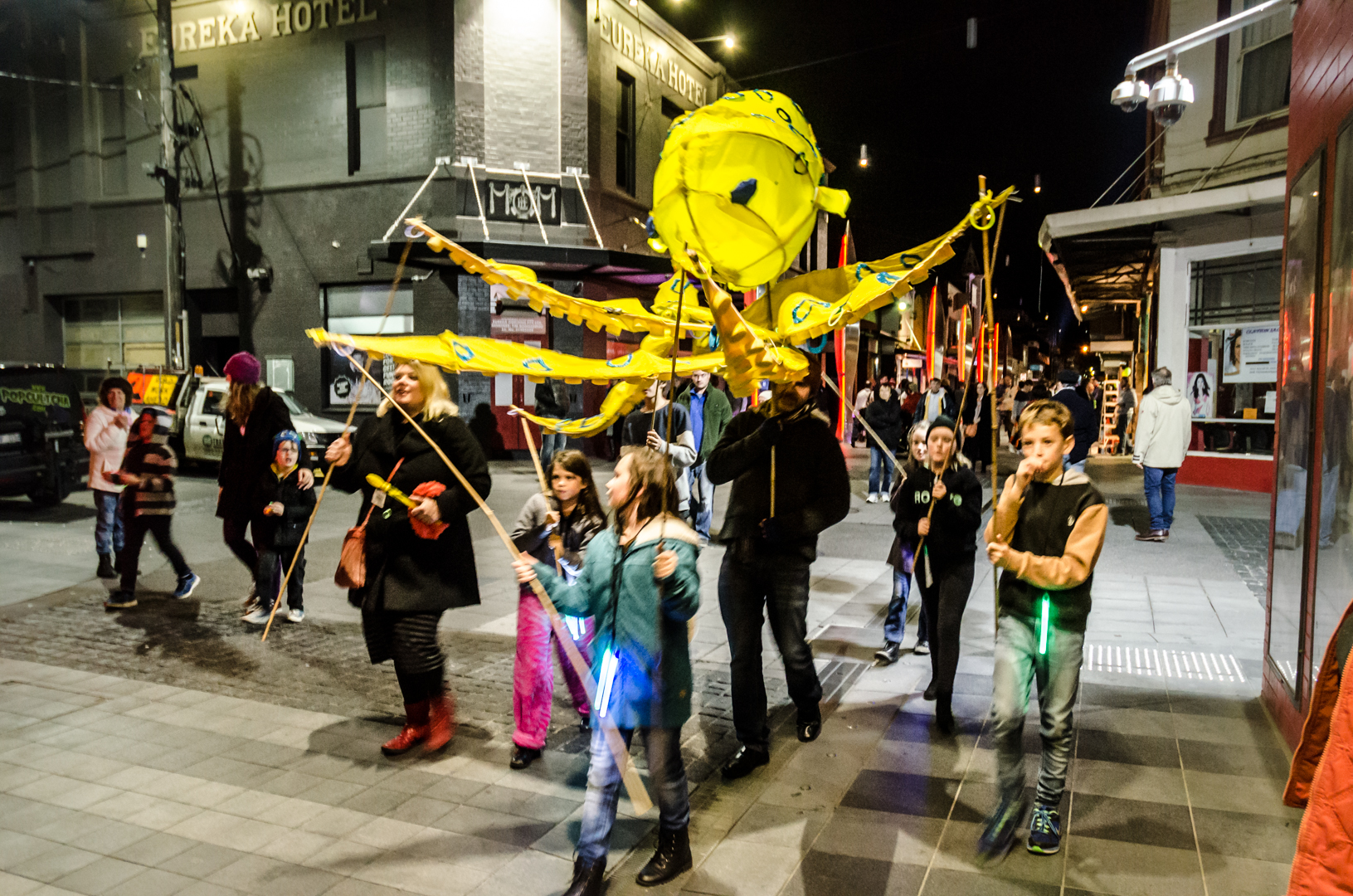 Marine Puppets at Geelong After Dark 2015 Photo by Brien Cohn