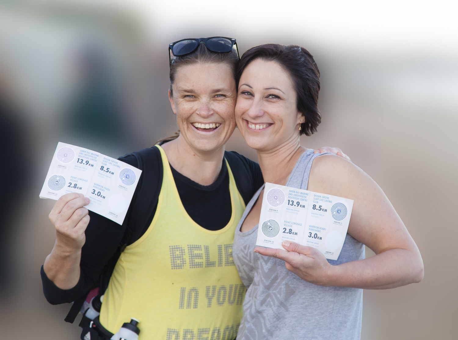 M~M2014 walkers at the finish line. Image: G Mourney.