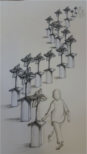 Preliminary drawing of the concept