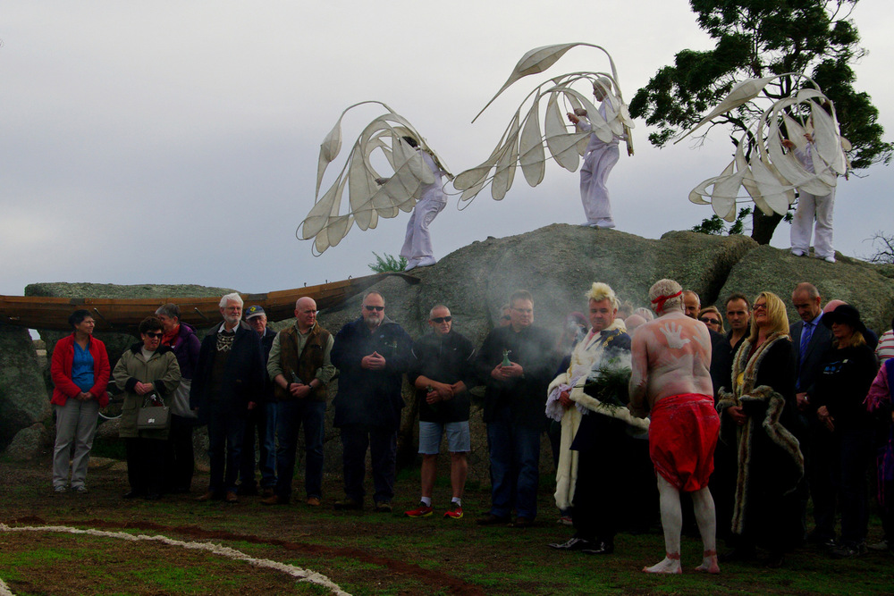 Gathering of the Elders ceremony at Mountain to Mouth 2014  Photo by Gerry Van Der Meer
