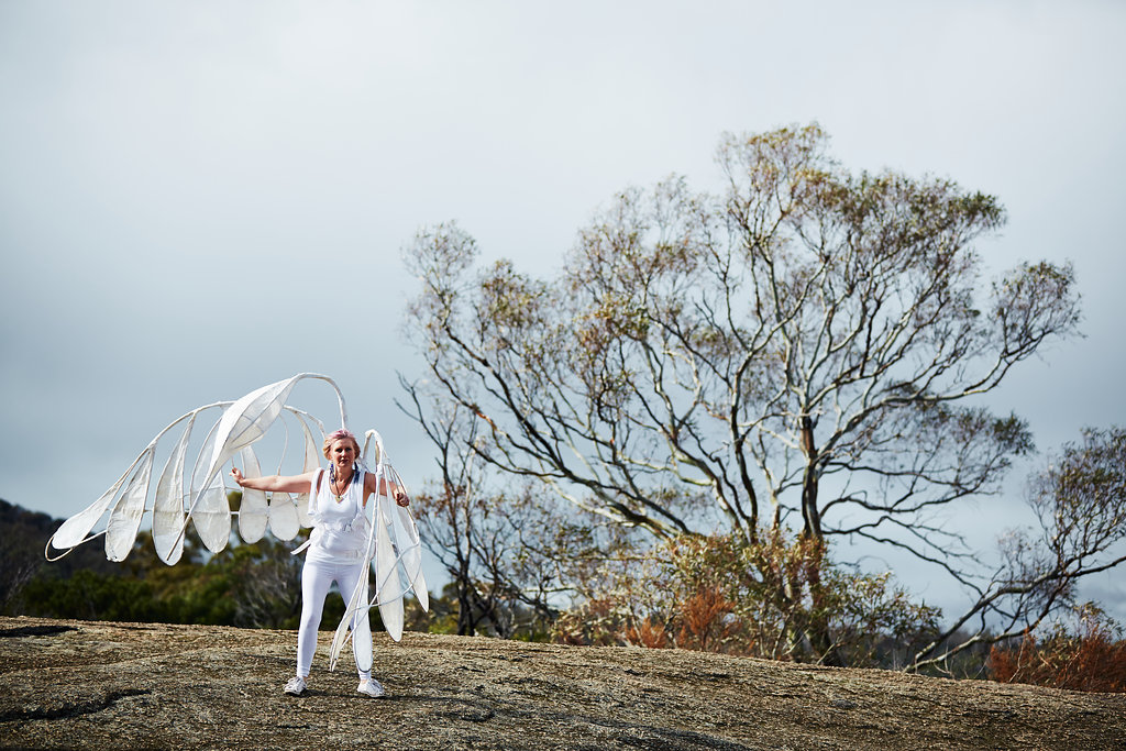 Tara Lynch as Spirit Bird at Gathering of the Elders Ceremony; Photographer: Ed Sloane