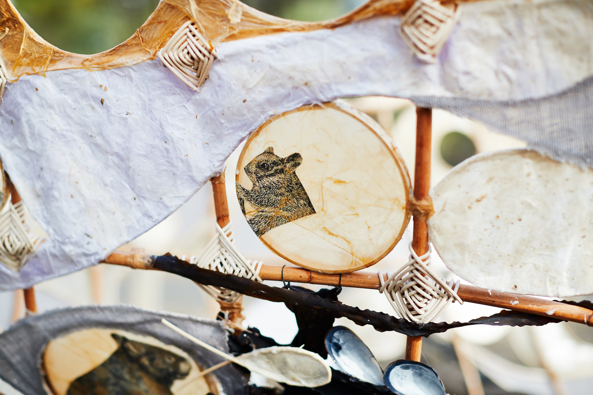 Detail of Canoe; Artists: Leslie Pearson and Kerrie Bedson; Photographer: Jarrah Lynch