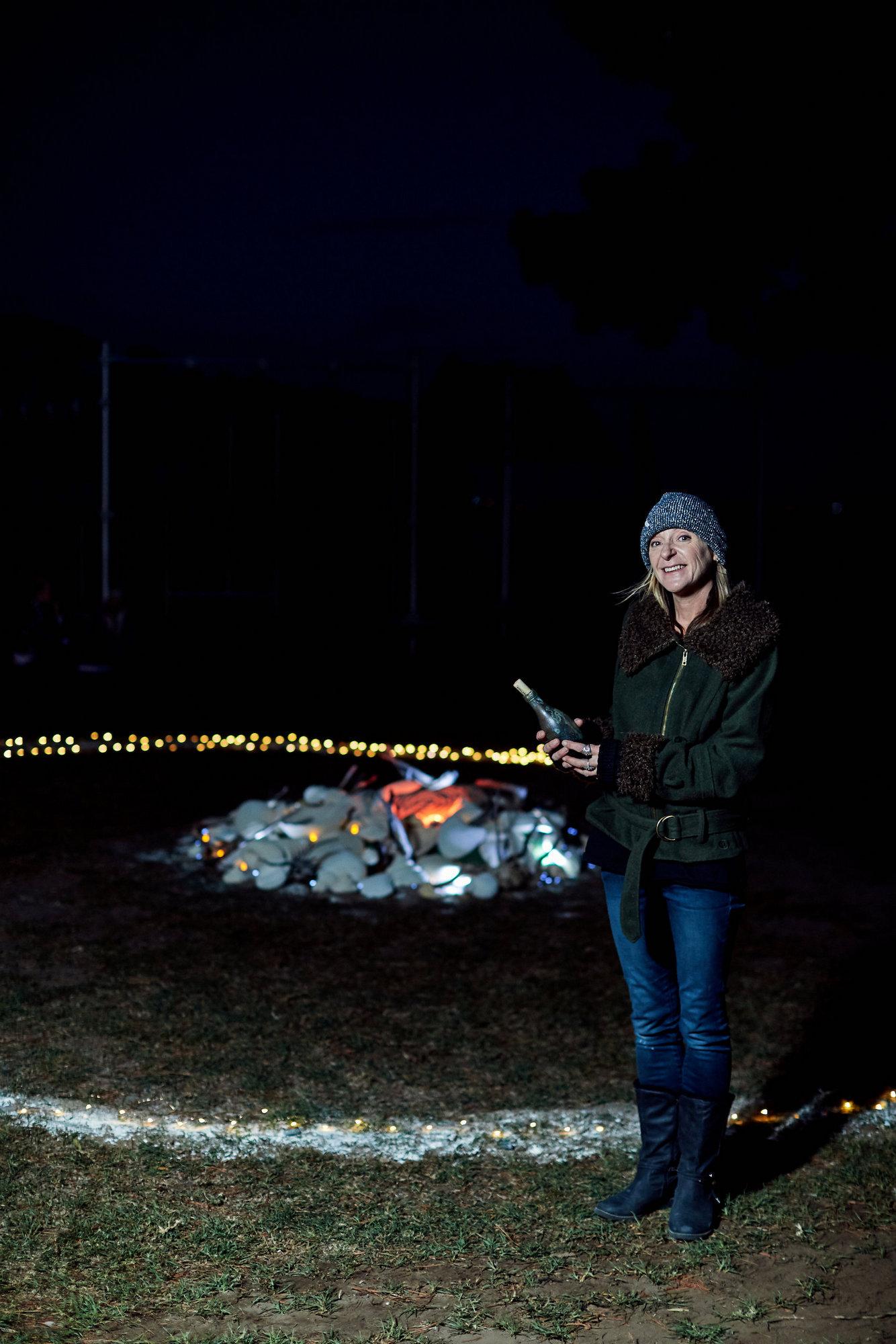 Jacinta Lynch at her Walking Circle at Station 4; Photographer: Ed Sloane