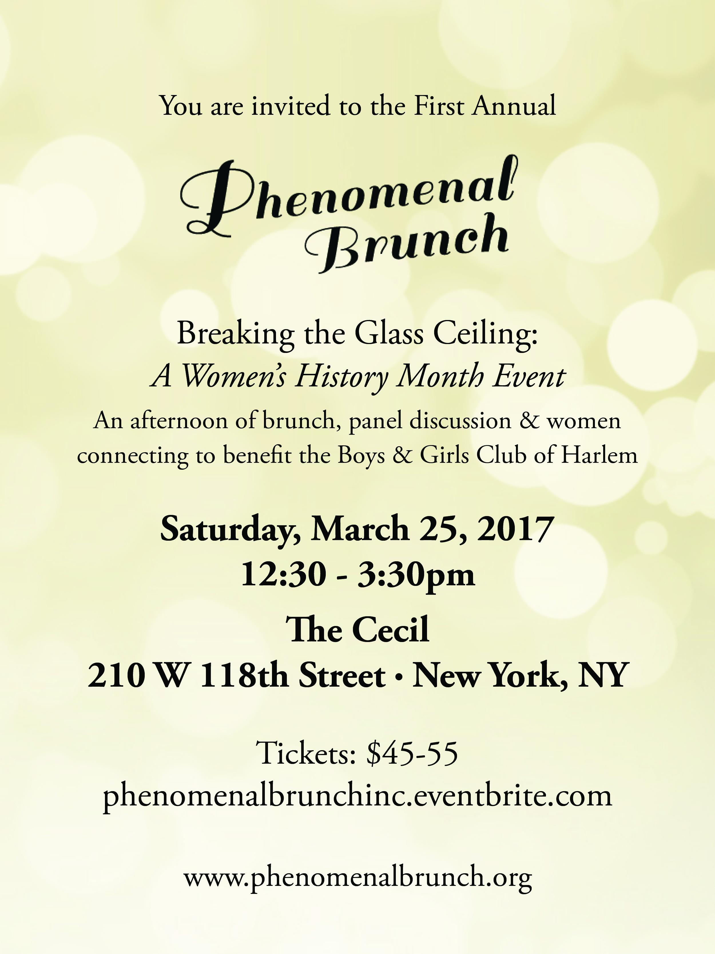 The First Annual Phenomenal Brunch invitation.