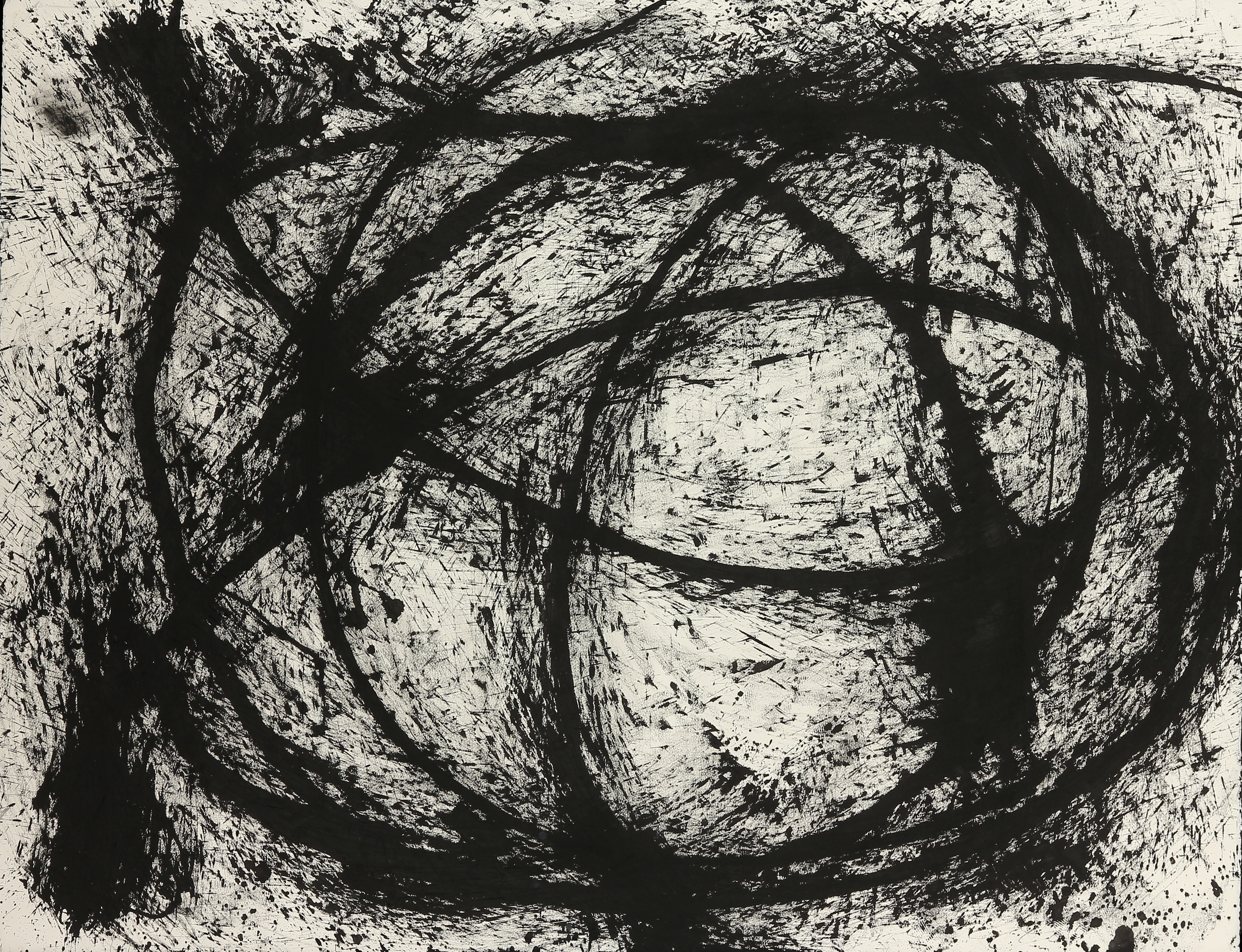 Black and White 1, 2012 Ink and Gesso on Paper (32 x 40).jpg