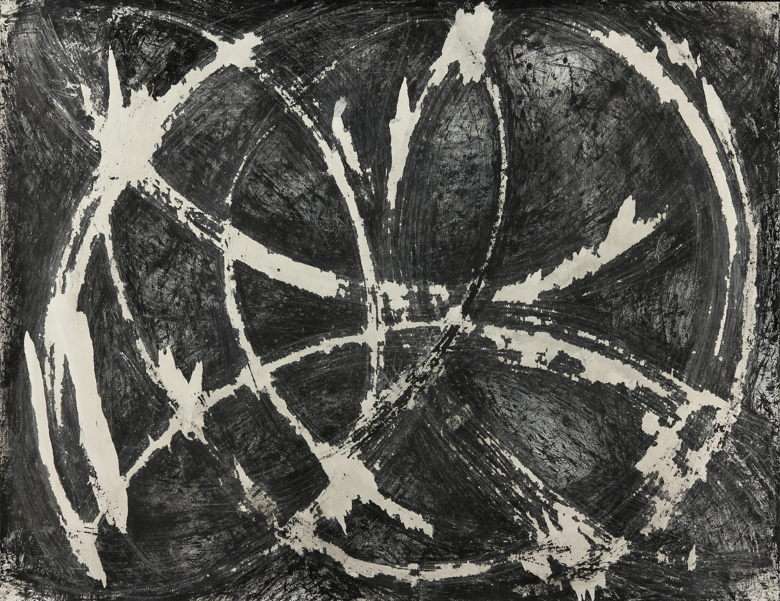 Black and White 3, 2012 Gouache, Ink and Gesso on Paper (30 x 40).jpg