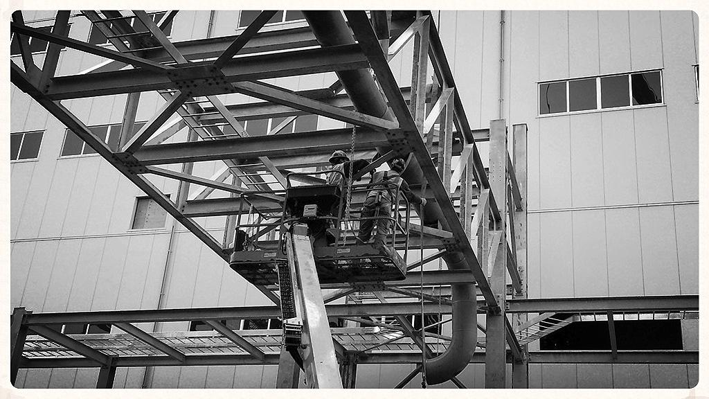 Performed installation of DI Water piping inside pipe rack between buildings, 2012