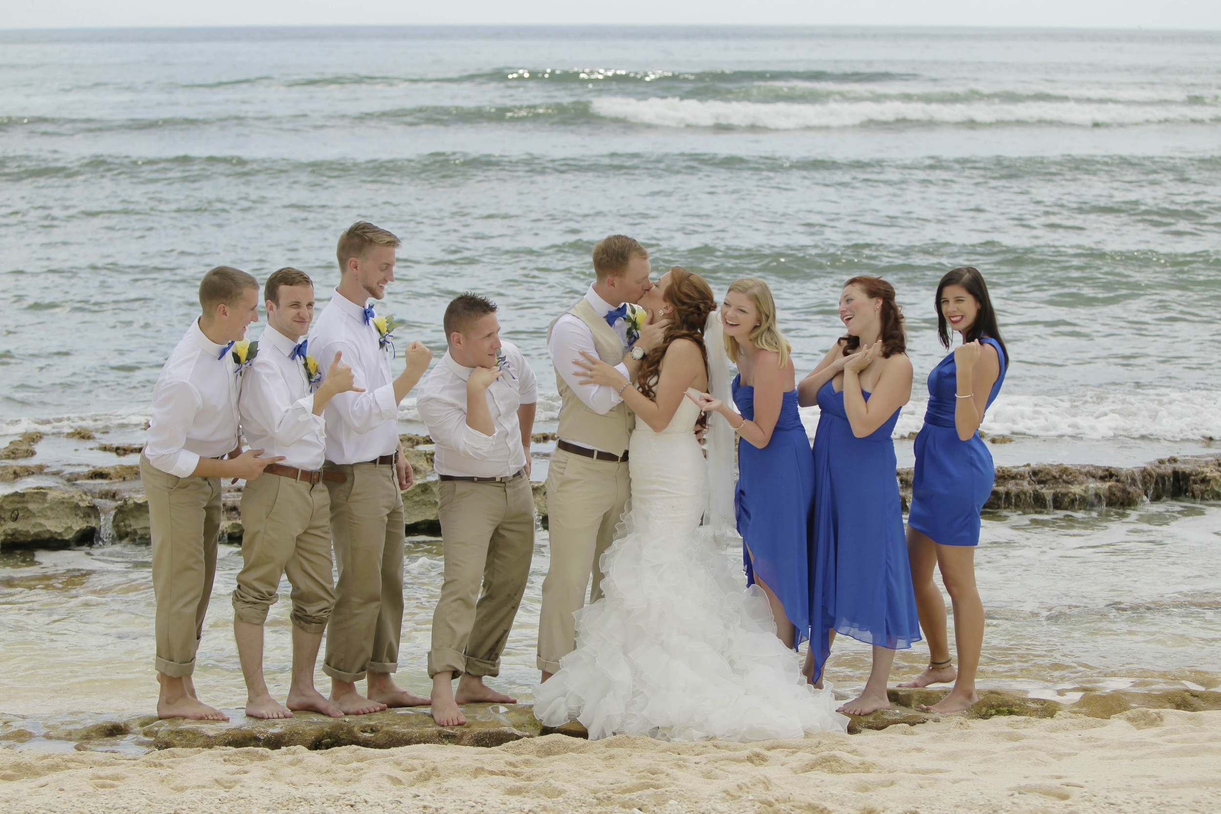 Recent wedding group at Surfer's Beach.