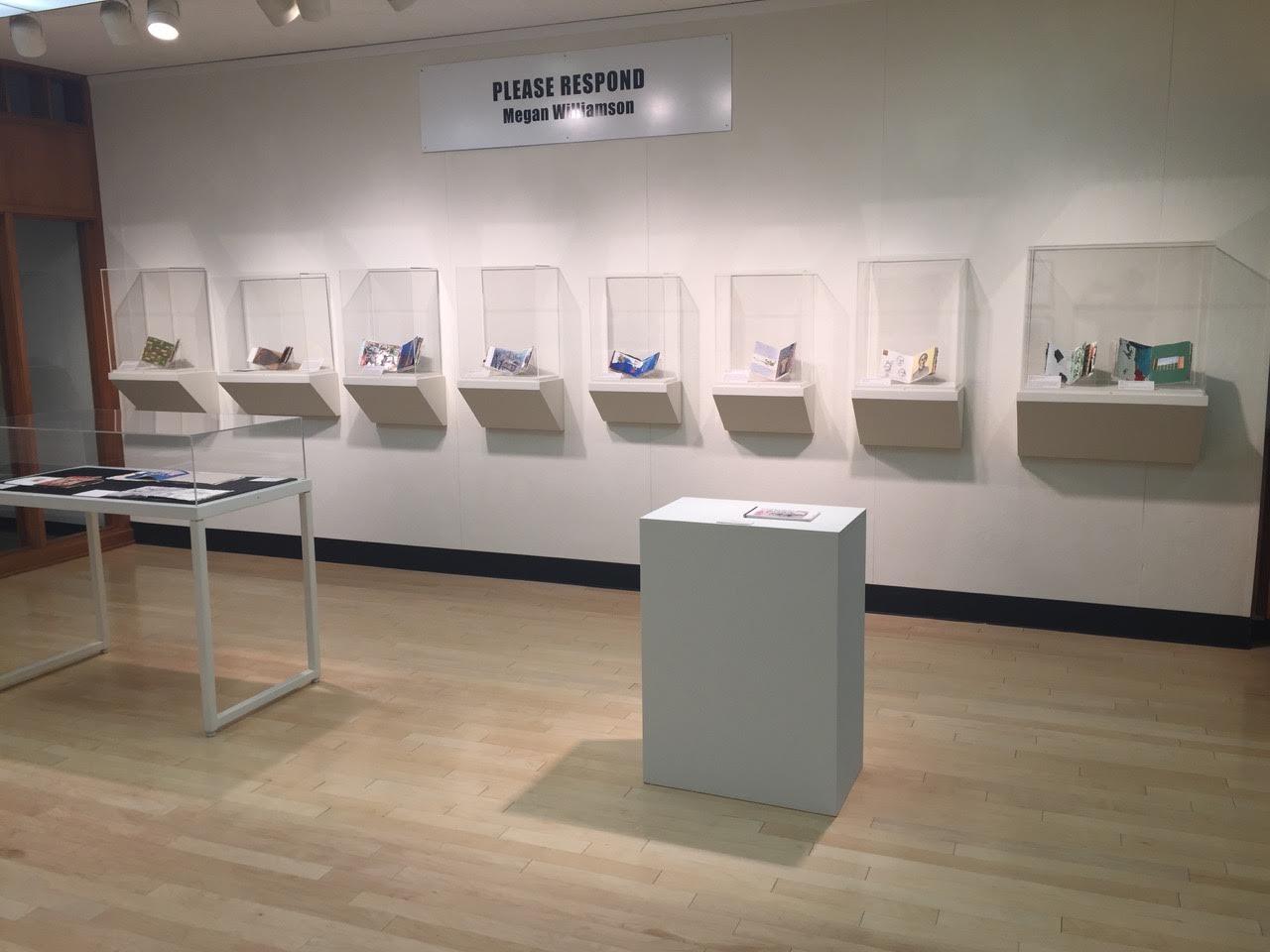 Please Respond Books exhibit at Ohio Wesleyan University (2017)
