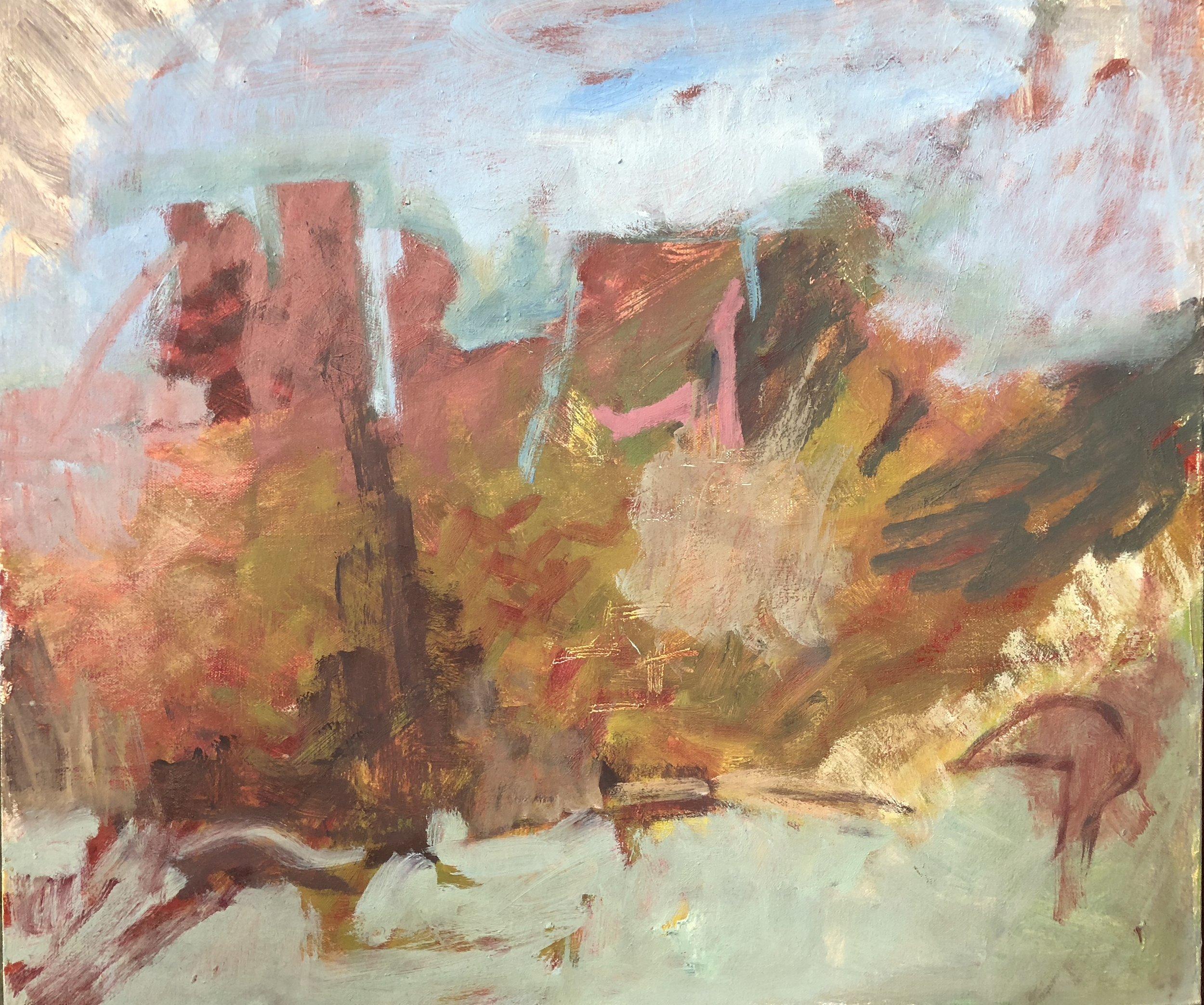 Landscape, oil on canvas