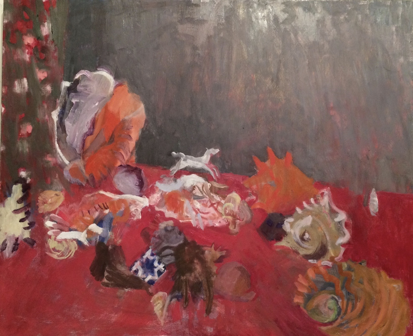Shells on a Red Table, 2014