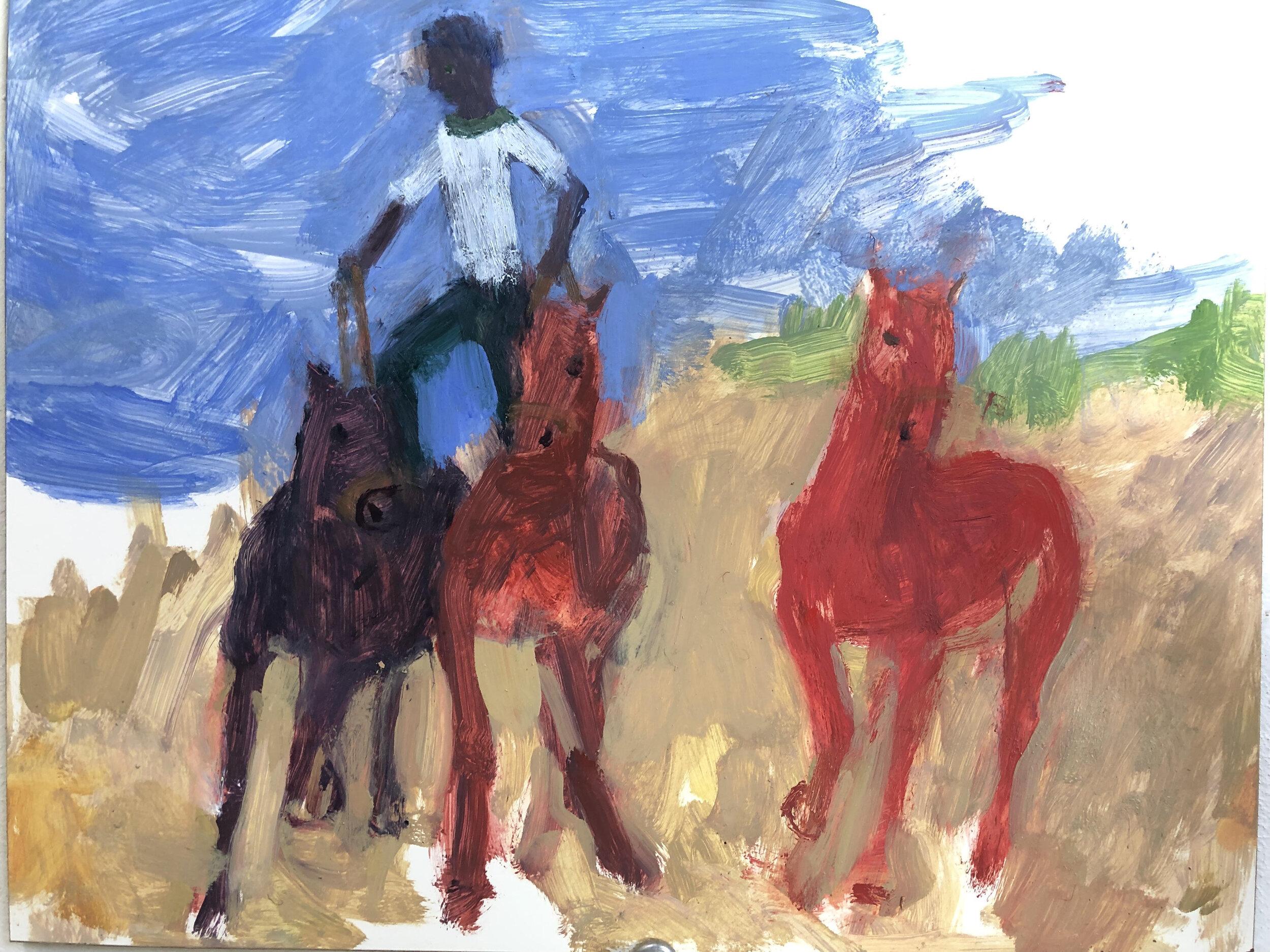 Roman Rider with Third Horse, 2019