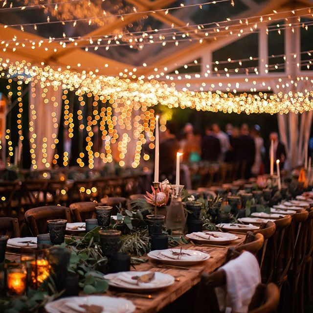 Clear tents and string lights, two of my favorite things.