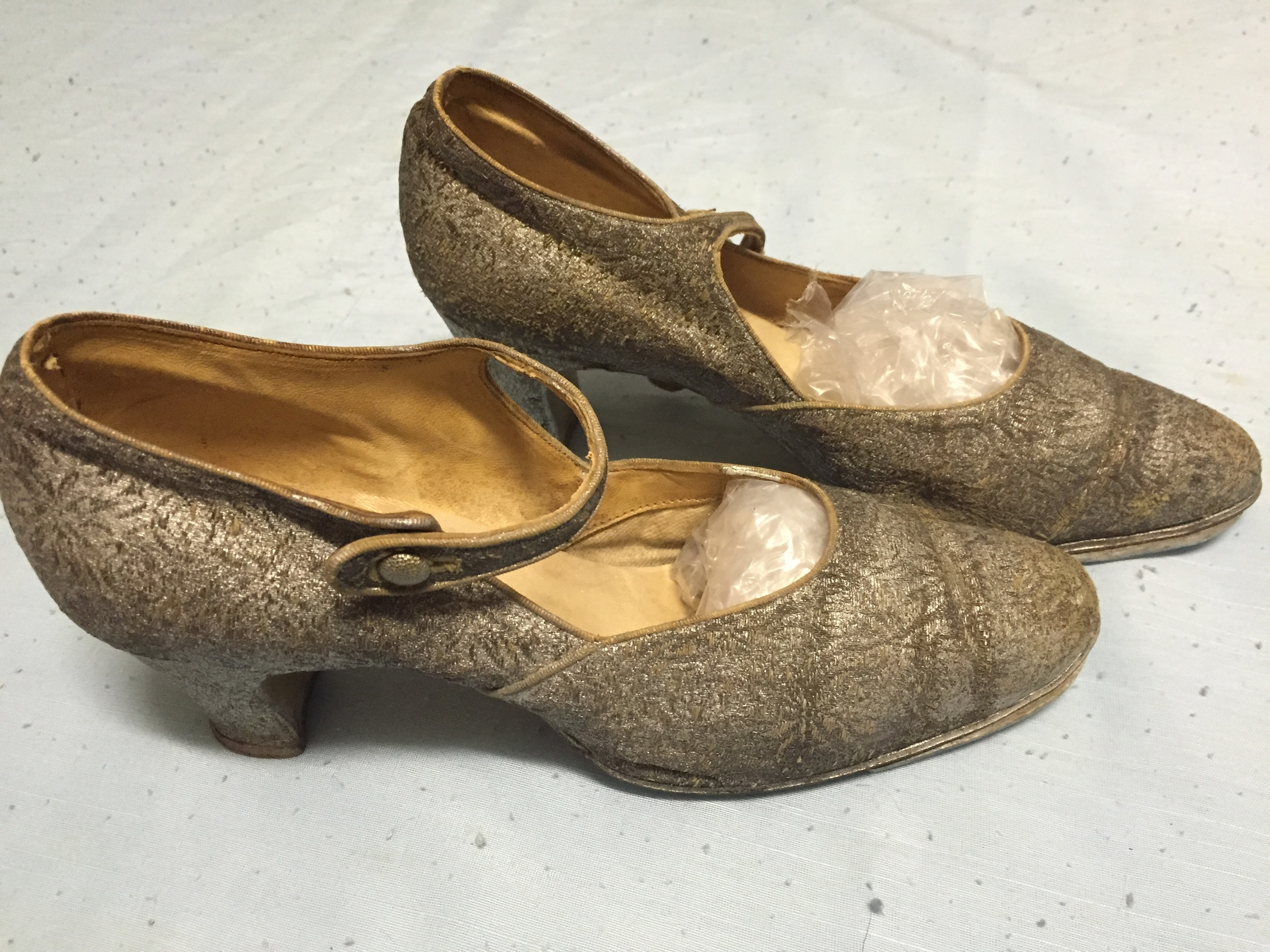 A pair of lovely 1930s tap shoes at the Benella Costume Museum.