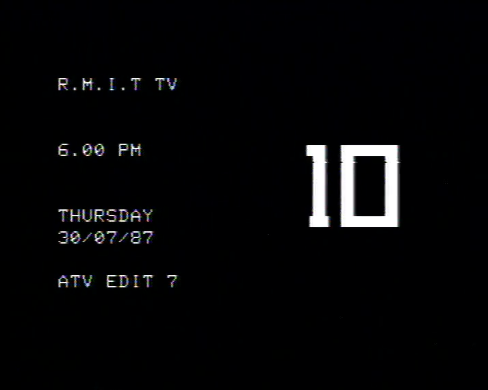 Countdown begins to the first satirical news program produced by the fledgling community television station RMITV in July 1987.