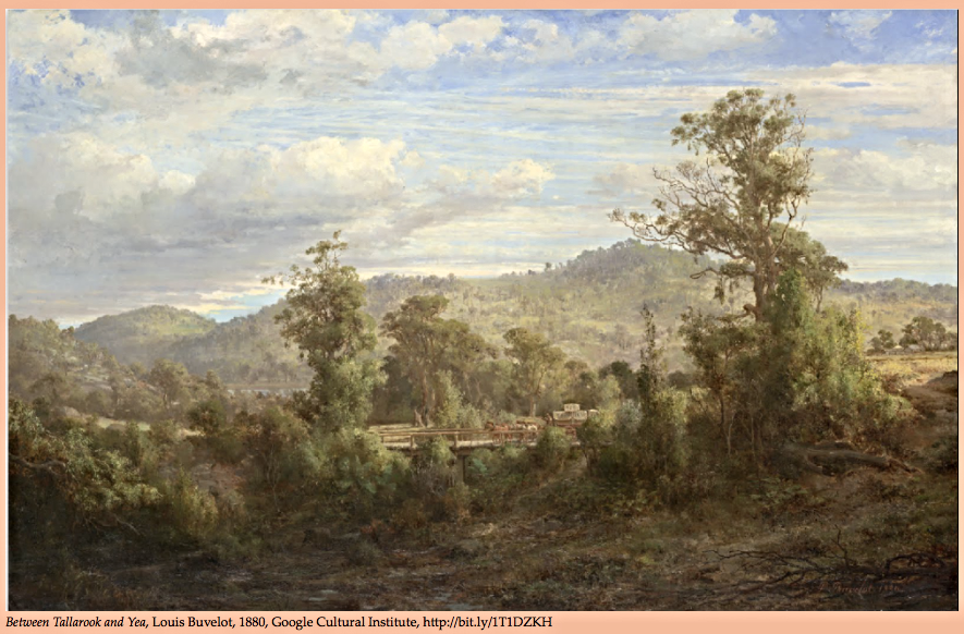 Between Tallarook and Yea  by Louis Buvelot, 1880.