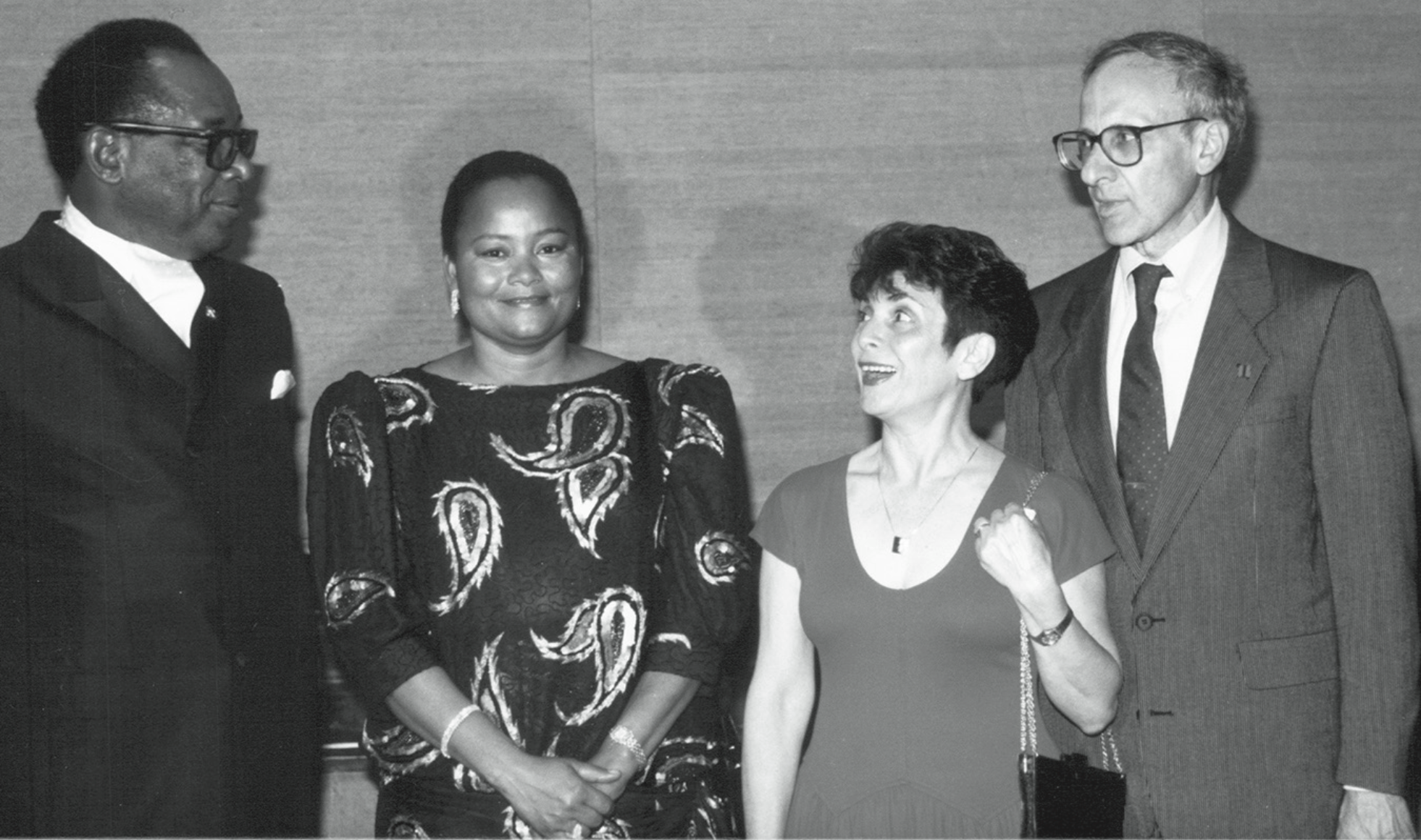With Mobutu, Mrs. Mobutu, and Mrs. Cohen at the White House in 1970.