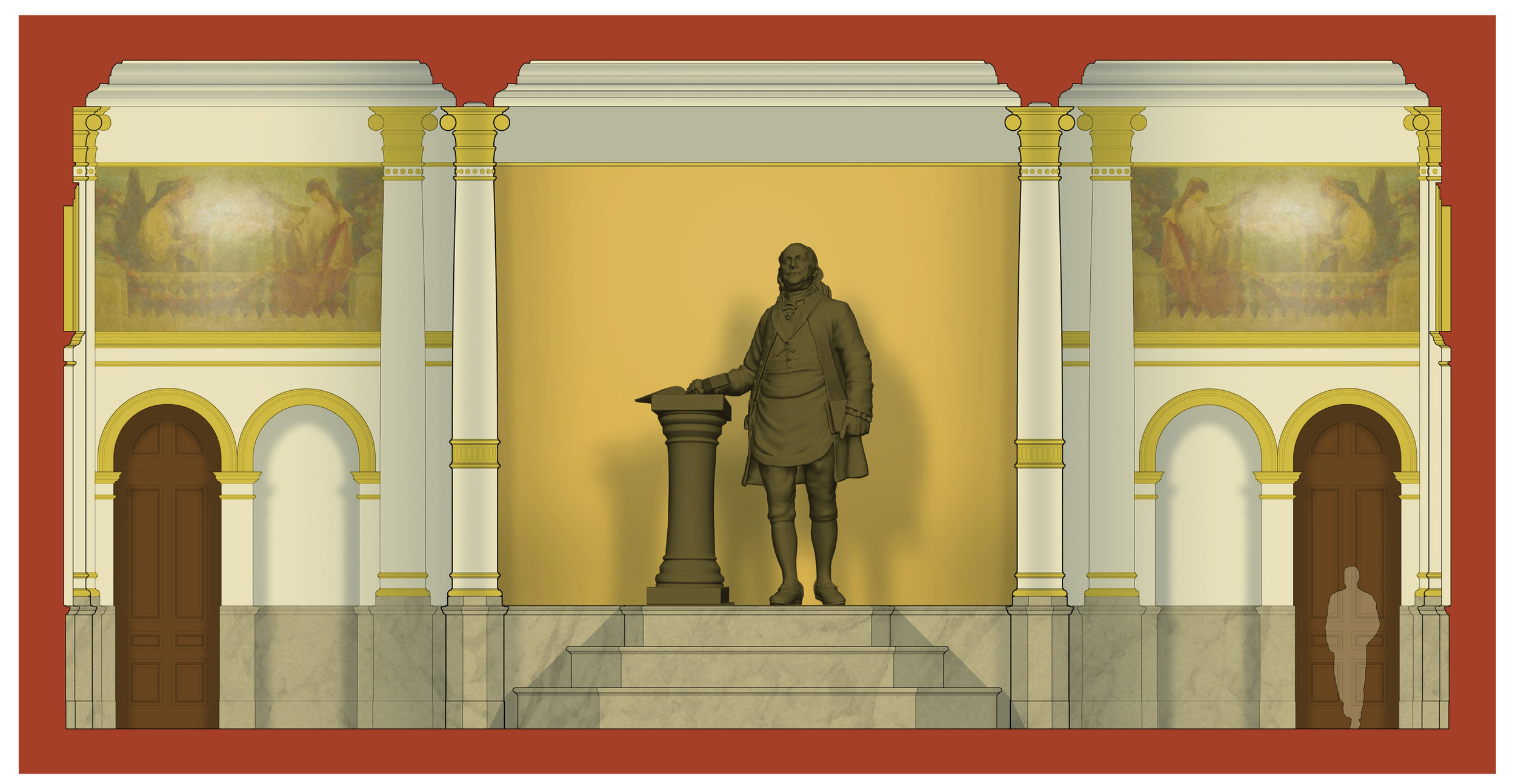 statue elevation