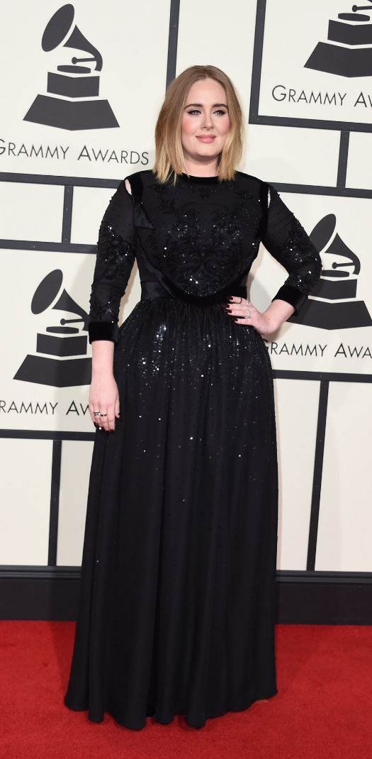 I love Adele I think she looked classic, pretty and relaxed. I love how she always stays true to who she is and true to her style.