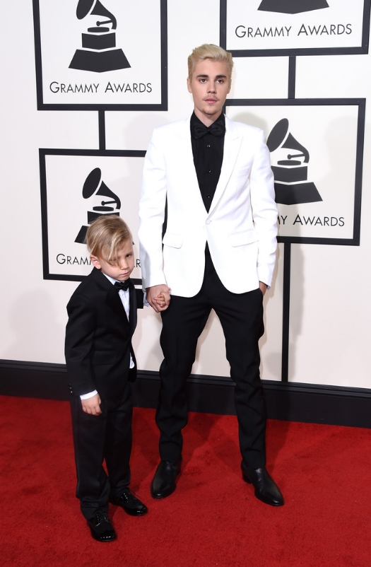 Justin Bieber and his little brother: (I didn't like the mustache)