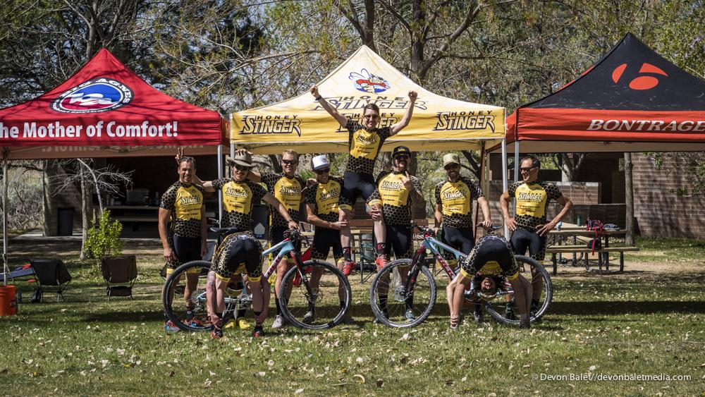 2015 Honey Stinger Team, minus a few.