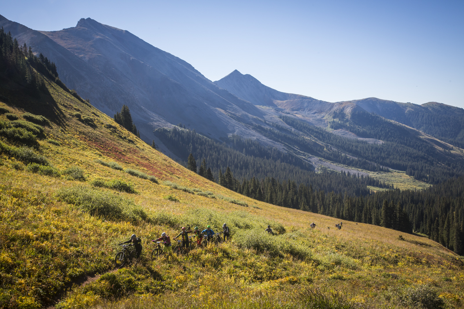 Hike a bike to the top of Star Pass outside of Crested Butte, Colorado.