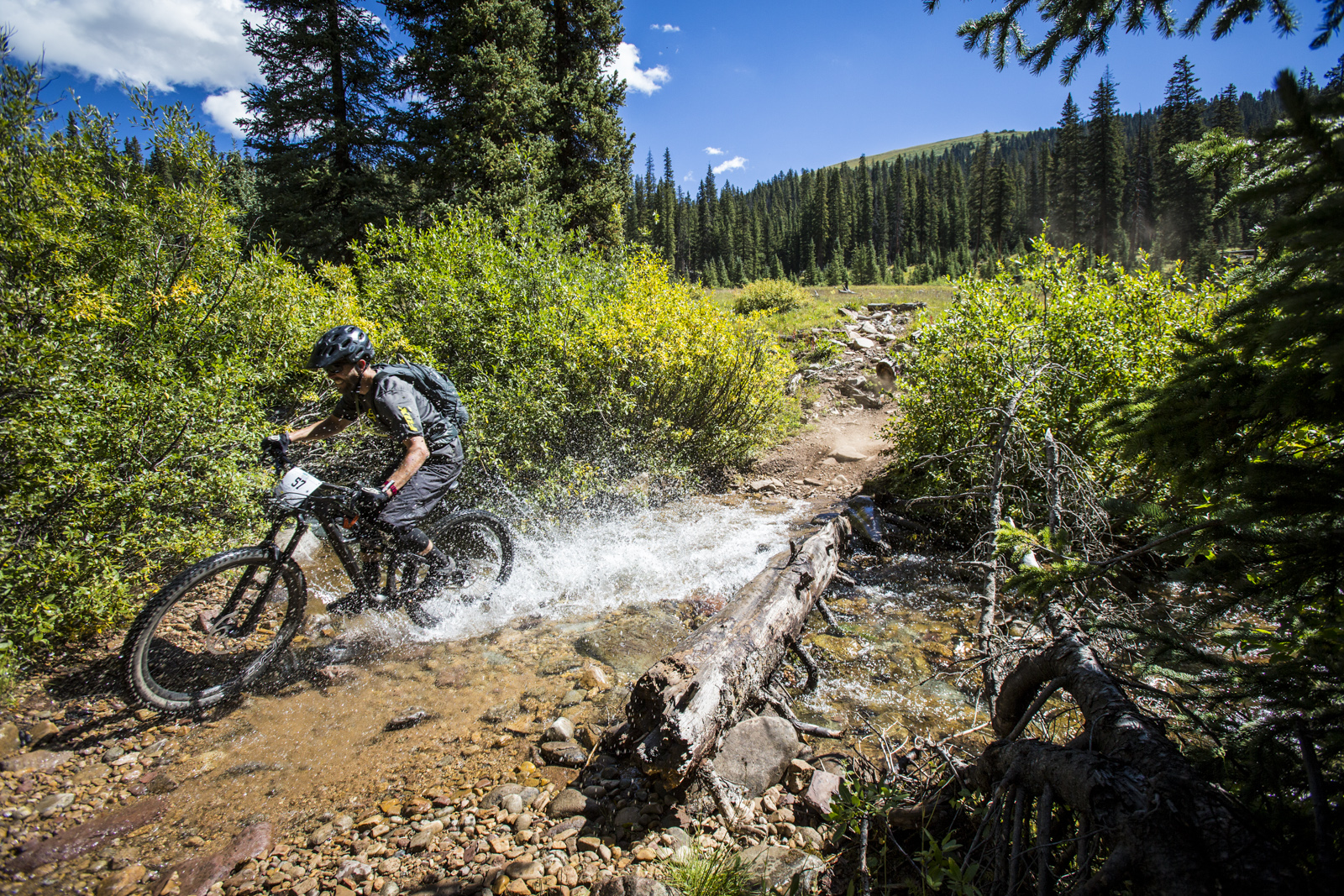 Will Olson on Trail 400 during the 2014 Crested Butte Ultra Enduro.