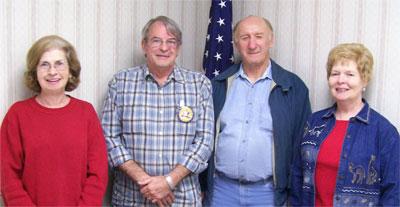 Ellen Gerber, Mike Smith, Bob Scoda, and Linda Karmgard