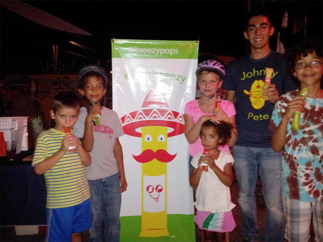 This was our first birthday party back in 2010. Everyone loved our pops especially the kids!