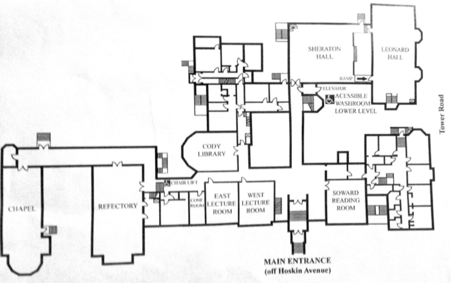 Wycliffe College Map - Click to expand