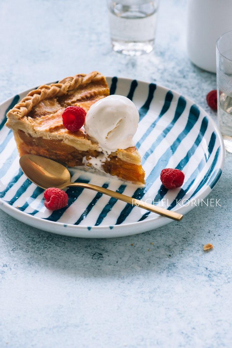 Rachel Korinek Food Photographer Apricot Pie  Click to check out my latest food photography projects.  #twolovesstudio #beautifulcuisine #foodbloggerpro #foodphotography #learnfoodphotography #foodblogger #learnphotography #foodstyling #lightingtips #naturallight #foodphotographer