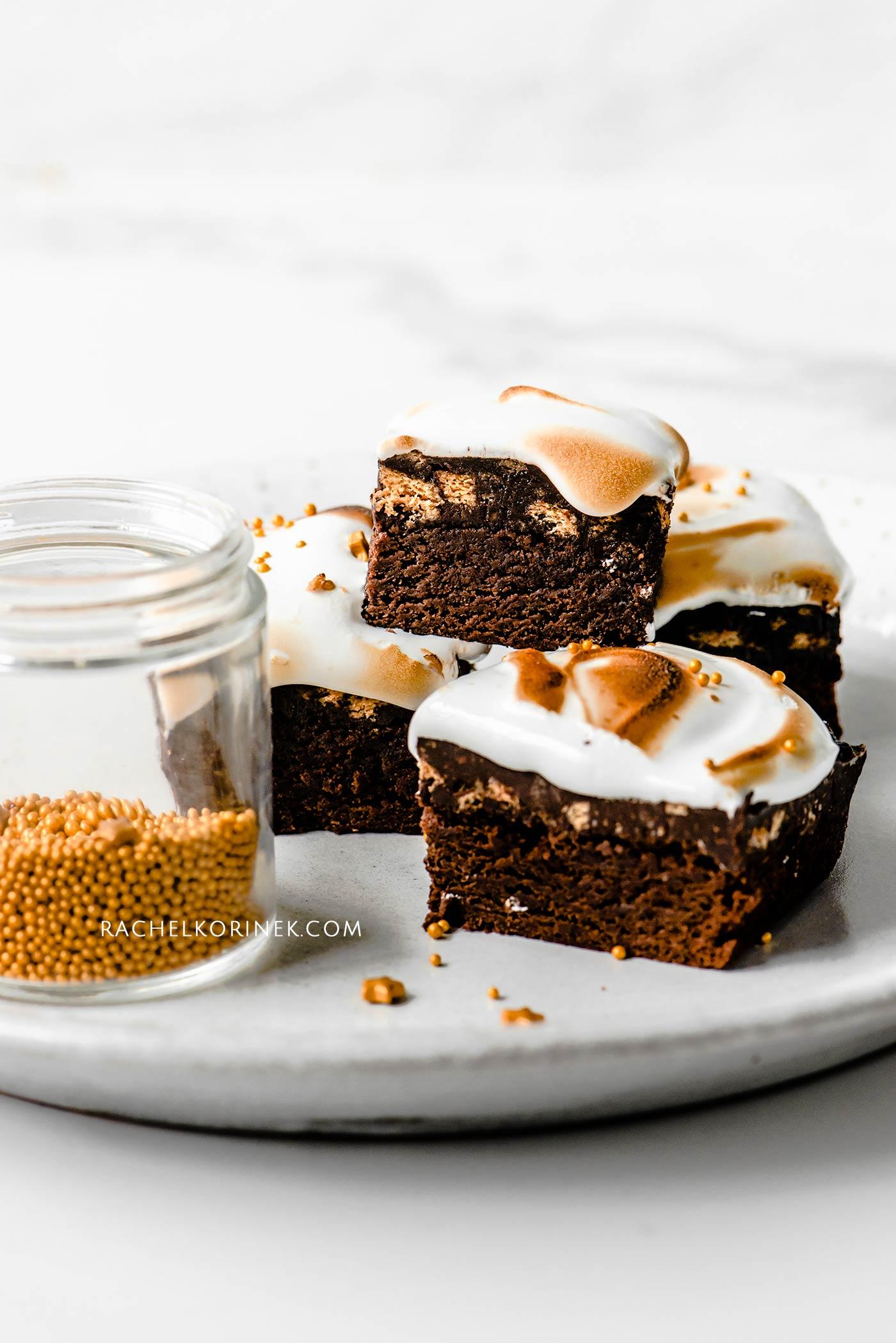 Rachel Korinek | Food Photographer Christmas S'mores Brownies
