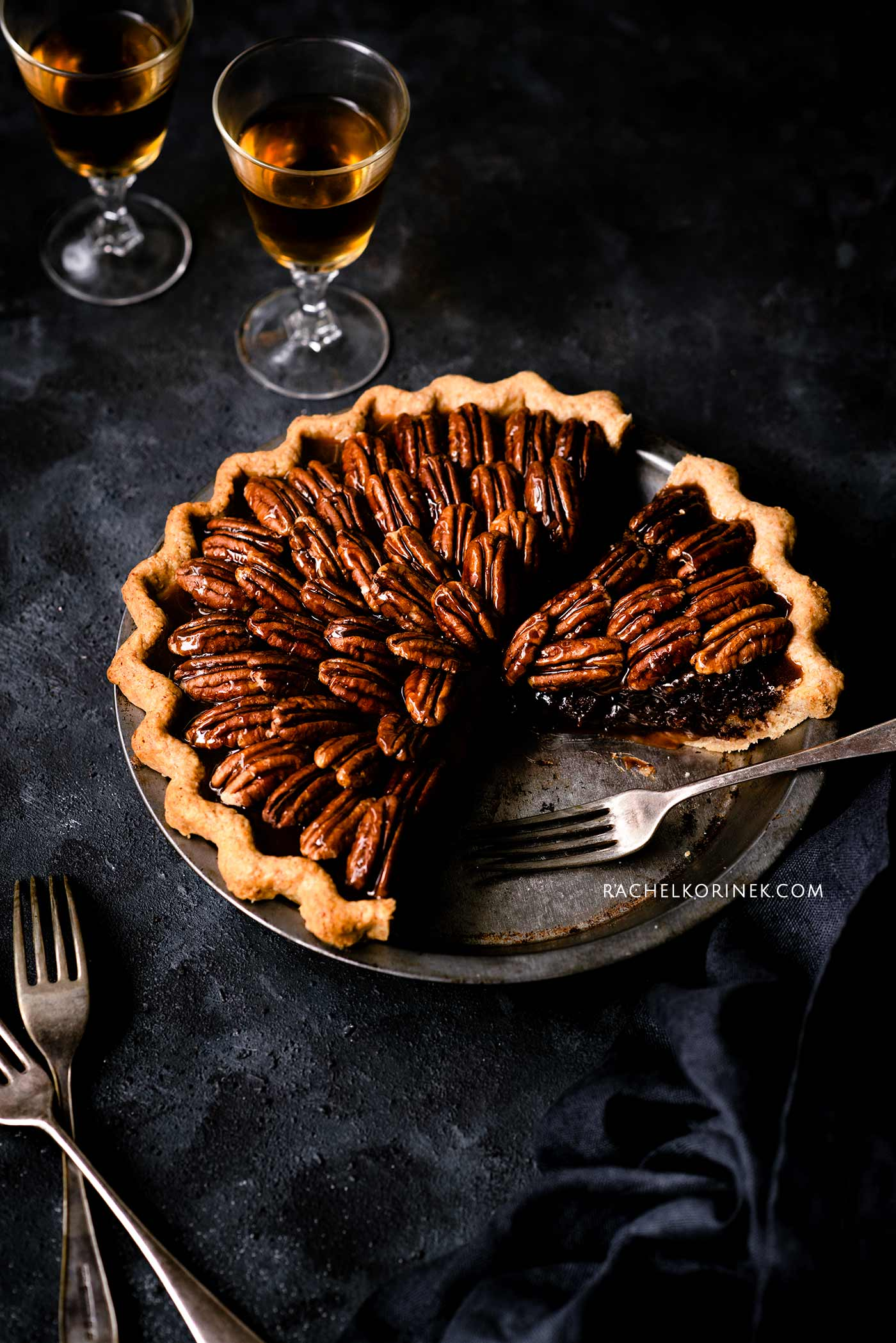 Rachel Korinek | Food Photographer Pecan Pie  Click to check out my latest food photography projects.  #twolovesstudio #beautifulcuisine #foodbloggerpro #foodphotography #learnfoodphotography #foodblogger #learnphotography #foodstyling #lightingtips #naturallight #foodphotographer